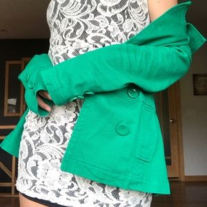 H&M DIVIDED green formal coat